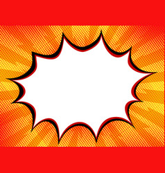 explosion steam bubble pop art funny funky banner vector image