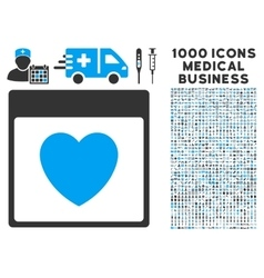Favourite Heart Calendar Page Icon With 1000 vector