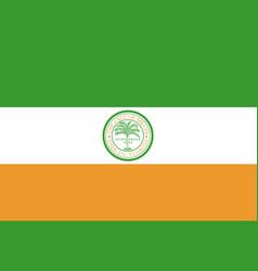 flag of miami city in florida usa vector image