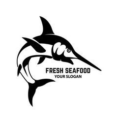 Fresh seafood swordfish icon on white background vector