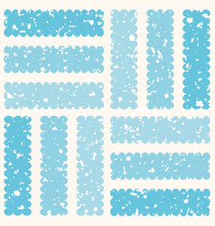 Frosted geometric design with white ice particles vector