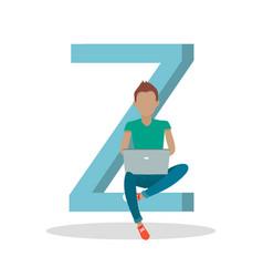 Gadget alphabet letter - z vector