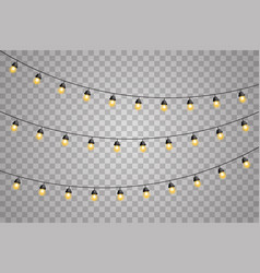 garlands decorations lights glowing led neon lamps vector image