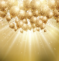 gold balloons background 1907 vector image