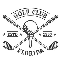 golf clubs emblem vector image