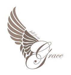 Grace wings design elements vector