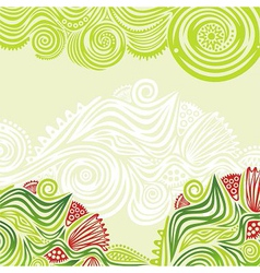 Green spring nature pattern background vector
