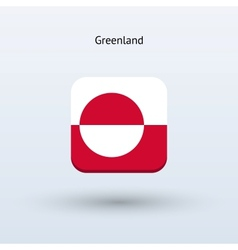 Greenland flag icon vector