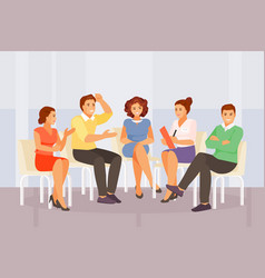 Group psychological counseling vector