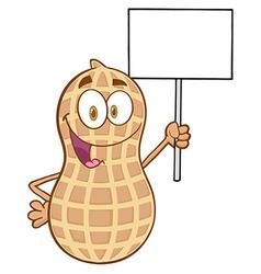 Happy peanut cartoon sticker vector image