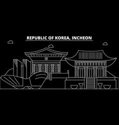 Incheon silhouette skyline south korea - incheon vector