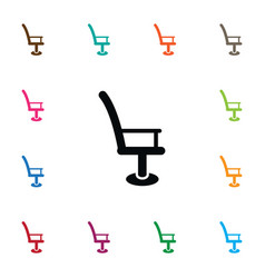 isolated barbershop icon armchair element vector image