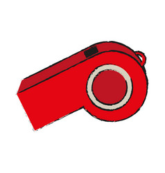 isolated whistle design vector image