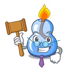 Judge alcohol burner mascot cartoon vector