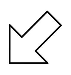 Left down arrow basic element icon vector