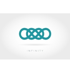 Limitless icon Simple mathematical sign vector image