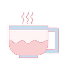 Line tasty espresso coffe cup vector