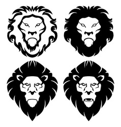 Lion Face Emblem vector image