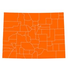 Map of colorado vector