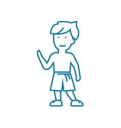 martial arts linear icon concept martial arts vector image