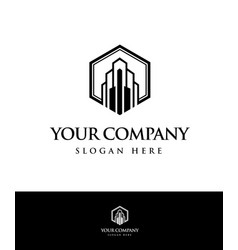 modern building abstract logo image vector image