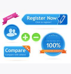 modern webshop buttons vector image