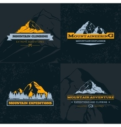 Mountain Emblem Template Set vector image