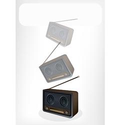 Old Radio Banner vector