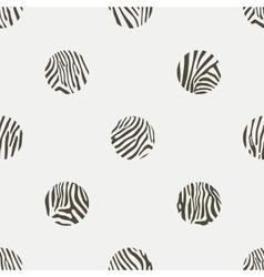 polka dots background zebra pattern vector image