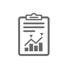 Project management icon report document symbol vector