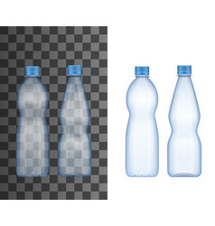 realistic plastic bottle mineral water drink vector image