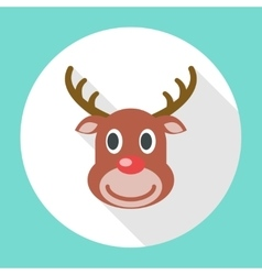 Reindeer Christmas Icon vector