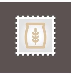 Sack of grain stamp Outline vector