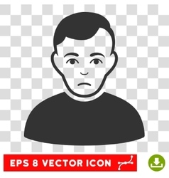 Sad Man EPS Icon vector image