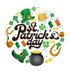Saint patricks day lettering design with some vector