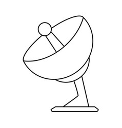 Satellite dish icon image vector