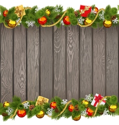 Seamless Christmas Old Wooden Board vector