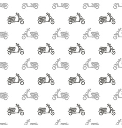Seamless Scooter Pattern vector