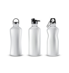set of plastic sport bottles for drinks vector image