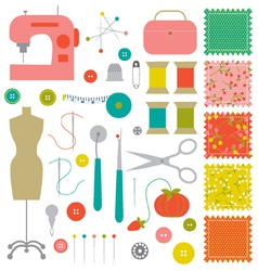 sewing clipart vector image