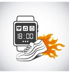 Smart watch for sport vector