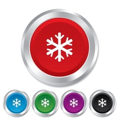 Snowflake sign icon Air conditioning symbol vector image