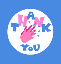 Thank you with clapping hands vector