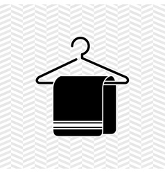 towel hanging on hook design vector image