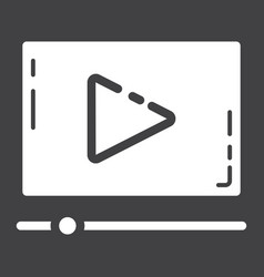 video marketing glyph icon seo and development vector image
