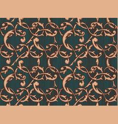 vintage baroque background vector image