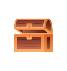 wooden chest fantasy gradient style vector image
