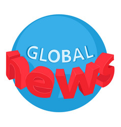 World news icon isometric style vector