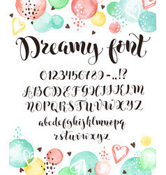 calligraphic script letters vector image