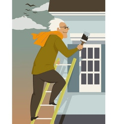Fall house maintenance vector image